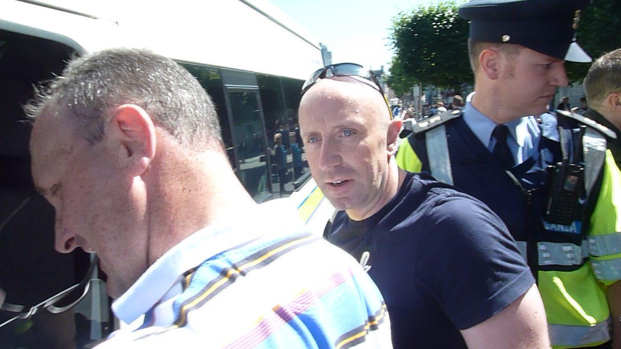 Detective Garda Pat Keegan, Mountjoy Garda Station, pepper-sprayed Shane in the face while he was in the back of the Garda van